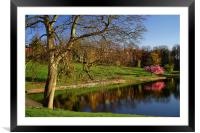 Crookes Valley Park in Spring, Framed Mounted Print