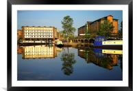 Victoria Quays Tranquility, Framed Mounted Print