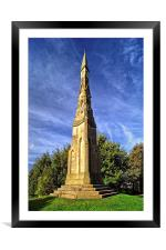 The Cholera Monument, Sheffield , Framed Mounted Print