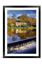 Bamford Weir and River Derwent, Framed Mounted Print