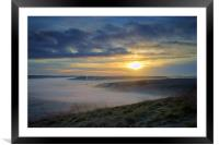 Sunrise over Hope Valley Mist, Framed Mounted Print