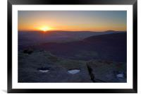 Bamford Edge Sunset , Framed Mounted Print