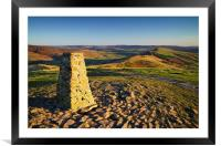 View from Mam Tor Summit , Framed Mounted Print