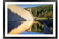 Derwent Dam Reflections , Framed Mounted Print