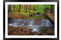 Porter Brook in Autumn, Framed Mounted Print