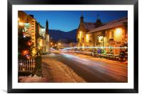 Christmas in Castleton , Framed Mounted Print