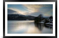 Ladybower Winter Reflections , Framed Mounted Print