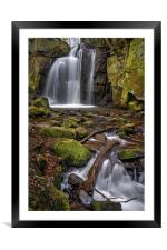 Lumsdale Falls and Bentley Brook , Framed Mounted Print