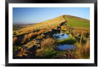 Evening Light on Lose Hill  , Framed Mounted Print