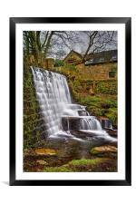 Lumsdale Falls and Dam , Framed Mounted Print