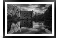 Gibson Mill Reflections , Framed Mounted Print