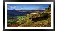 Back Tor Panorama , Framed Mounted Print