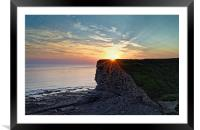 Sunset over Nash Point , Framed Mounted Print