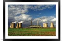Stormy Skies over West Burton Power Stations, Framed Mounted Print