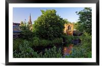 Chapel on the Bridge and Rotherham Minster , Framed Mounted Print