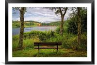 Ulley Bench with a View , Framed Mounted Print
