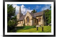 St Bartholomew's Church, Maltby , Framed Mounted Print