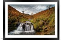 Fair Brook Falls , Framed Mounted Print