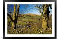 Lose Hill and Hope Valley , Framed Mounted Print