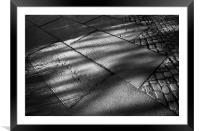 St Mary's Gravestones and Shadows , Framed Mounted Print
