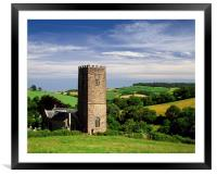 St Nectans Church, Ashcombe, Framed Mounted Print