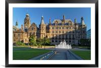 Sheffield Town Hall and Peace Gardens  , Framed Mounted Print
