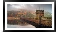 Mist over Derwent Dam , Framed Mounted Print