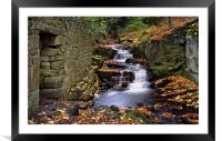 Lumsdale Waterfalls and Mill , Framed Mounted Print