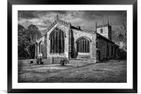 St James Church, Norton, Sheffield , Framed Mounted Print