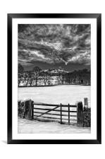 Gateway to Bamford Edge , Framed Mounted Print