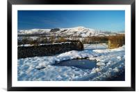 Lose Hill and Great Ridge in Winter, Framed Mounted Print