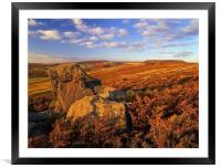 Over Owler Tor & Stanage Edge, Framed Mounted Print