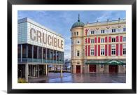 Crucible & Lyceum Theatres, Sheffield , Framed Mounted Print