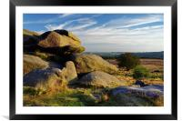 Owler Tor and Lawrence Field                      , Framed Mounted Print