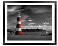Smeatons Tower on Plymouth Hoe, Framed Mounted Print