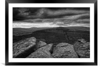 Win Hill under Stormy Skies                       , Framed Mounted Print