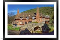 Allerford Packhorse Bridge and Cottage            , Framed Mounted Print