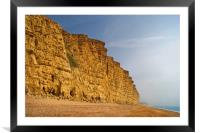 East Cliff,West Bay                     , Framed Mounted Print