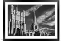 Sheffield Cathedral                    , Framed Mounted Print
