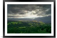 Hope Valley Light Rays                       , Framed Mounted Print