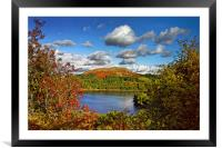 Burrator and Sheepstor In Autumn                  , Framed Mounted Print