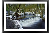 Holme Head Weir, Rivelin                          , Framed Mounted Print