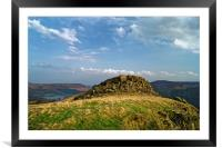 Crook Hill overlooking Ladybower                  , Framed Mounted Print
