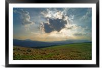 Crespuscular Rays from Crook Hill, Framed Mounted Print