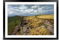 View along Stanage Edge                           , Framed Mounted Print