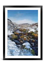 Burbage Brook & Carl Wark                       , Framed Mounted Print