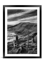 Footpath To Mam Tor                              , Framed Mounted Print