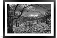 Hope Valley in Winter                     , Framed Mounted Print