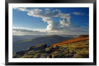 Last Light on Bamford Edge                        , Framed Mounted Print