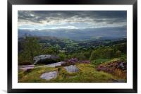 Hope Valley View                               , Framed Mounted Print